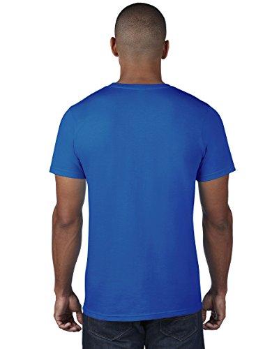980=Anvil Adult Fashion T-Shirt Colour=Neon Blue Size=XL