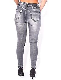 Jeans skinny délavé à patchs