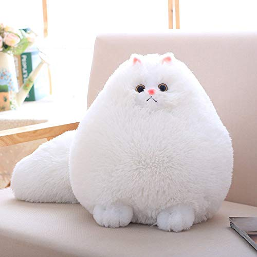Winsterch-E Elephant Soft White Plush Toy Cat Stuffed Animal Toy Plush Gift for Boys Girls (White, 11.8 inches)