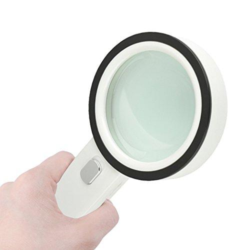 HONPHIER LED Handlupe Lupe mit Licht 30X Leichte Leselupe für Senioren und Kinder, Inspektion, Hobby, Handwerk