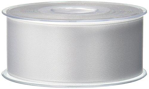 Morex Ribbon Double-Face Swiss Satin Ribbon, 1-1/2-Inch by 27-Yard Spool, White by Morex Ribbon -