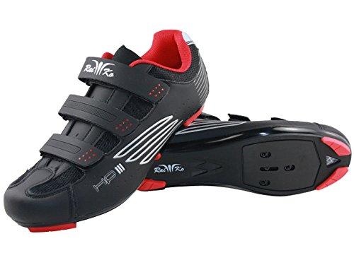 Raiko Sportswear HP3 Rennradschuhe | SPD-SL/Look Klickpedale | Klettverschluss | Leder mit Netzeinsätzen | Airflow Sohle