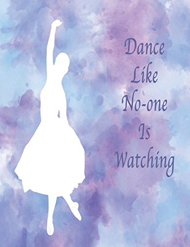 Lilac Dance (Dance Like No-One Is Watching: Manuscript Paper Notebook: Soft cover, Lilac, 110 pages 8.5x11, 12 Stave)