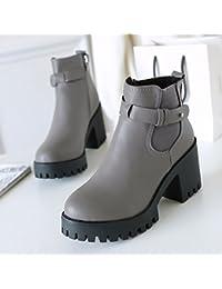 FLYRCX Martin botas y botas con espeso y grueso en el otoño y el invierno de terciopelo,35,B