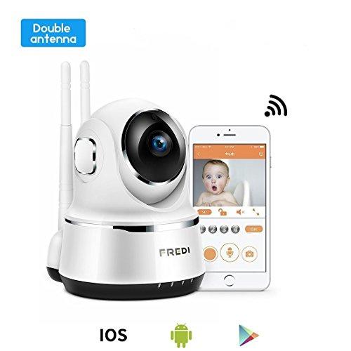 Galleria fotografica FREDI 720P IP Telecamera di Sorveglianza Wireless Camera Wifi Telecamera di Sicureza Telecamera di sicurezza wi-fi senza fill Baby Per Monitor con Visione Remota /Videocamera di sorveglianza P2P (bianca)