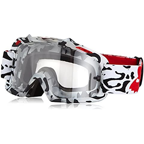 Fox Niños Goggles Air Space Youth cauz, red Spark Clear, One size, 15360 – 902