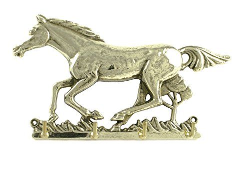 Umbria Equitazione Portachiavi da Muro Soggetto 'Cavallo al trotto'