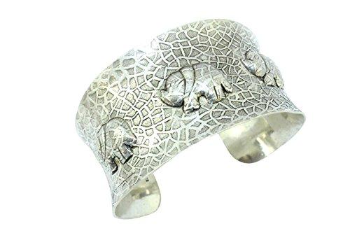 Rajasthan Gems - Pulsera de plata de ley 925, diseño de figuras...