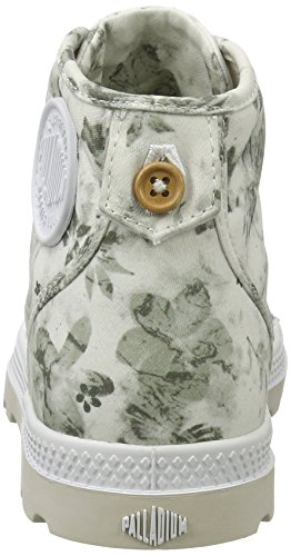 Palladium Pallabrouse Mid LP, Sneakers Basses Femme Blanc (White/moonbeam/floral Print)