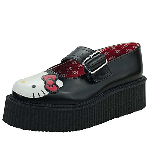 T.U.K. Hello Kitty Mary Jane Creeper Donna US 8 Nero Mary Janes