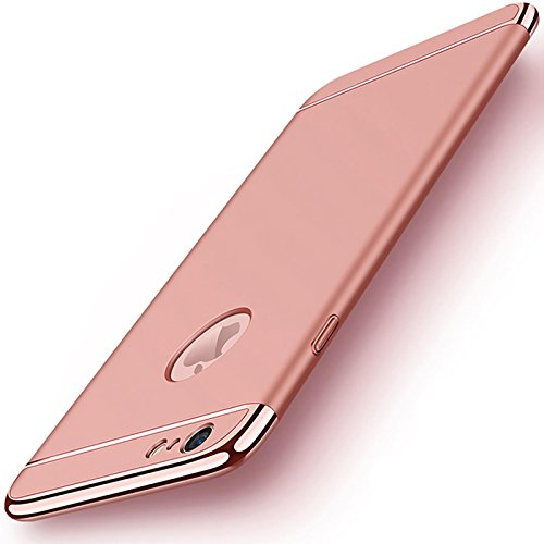 iPhone 6s Plus, 6 Plus Hülle, Conie Rückschale Hardcase Hybrid Schutzhülle Backcover Schlanke Handyhülle in Gold Rose Gold