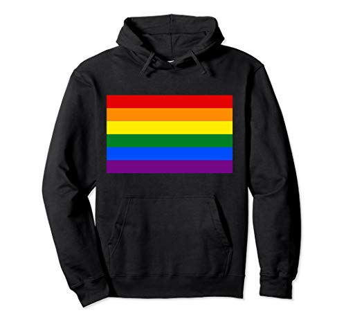 rainbow Flag Gay LGBT pride flag Party Club and Streetwear Pullover Hoodie