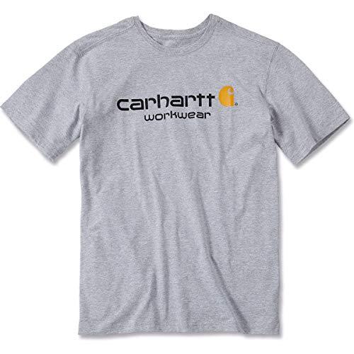 Carhartt Workwear T-Shirt Core Logo Short Sleeve Arbeitsshirt 034, Große XL, grau, 101214 - Xl Grau Core