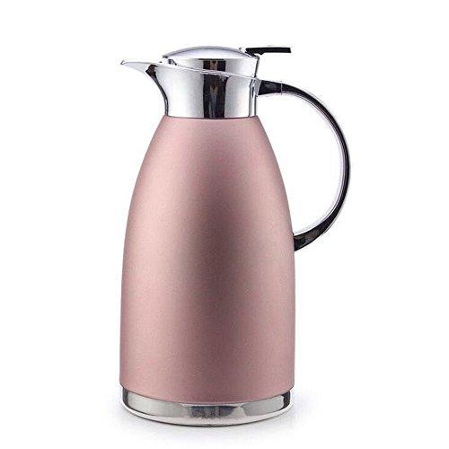 Haosens 1,8 Liter Edelstahl Doppelschicht Vakuum kaffeekanne Haushalt thermosflasche Europäischen Stil thermosflasche - Heiß und kalt dual Gebrauch (Khaki Rot)