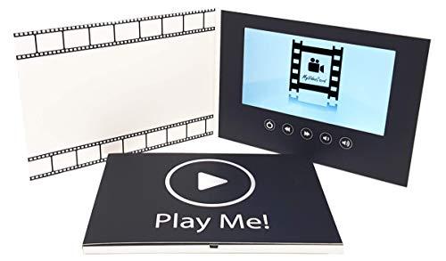 MyVideoCard, Video-Grußkarte mit 7 Zoll großes LCD-Farbdisplay und USB-Anschluss, Für Videonachrichten, Diashow, Videoprojekte, Geburtstag, Marketing, Einladungen, Abschiedskarte, Geschenkidee - Lcd-video