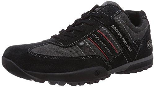 Dockers by Gerli 36HT001, Low-Top Sneaker uomo, Nero (Nero (Nero 100)), 43