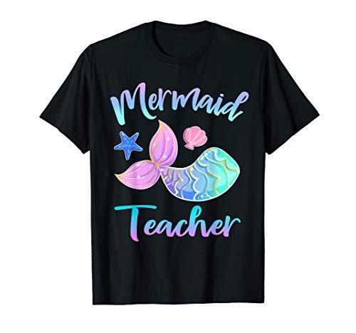Meerjungfrau-Gruppen-Lehrer-Geschenke zurück zu Schule T-Shirt (Zurück Schule-geschenke Zu Lehrer Für)