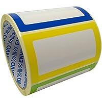 Nom Étiquettes Coloré Nominatives Autocollants 250 étiquettes/Pack divers coloris (3 couleurs) au format 90 x 50 mm