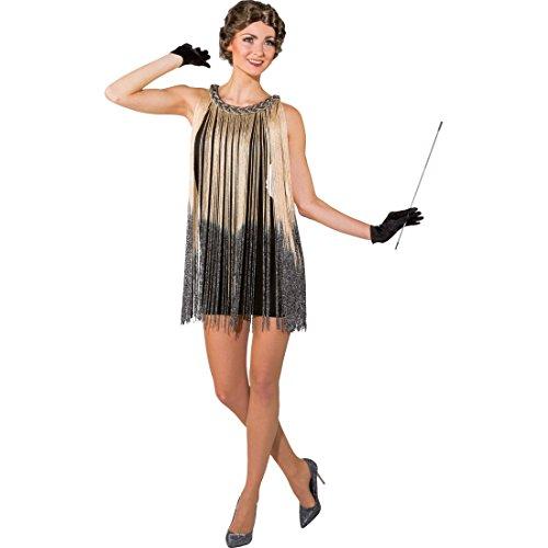 Amakando Charleston Kleid - mit Fransen - Damenkleid Gatsby Style Zwanziger Damenkostüm 20er Jahre Kostüm 20s Outfit Flapper Dress