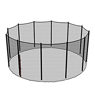 Ampel 24, outer safety net for 14ft trampolines with 12 poles | Without poles | Heavy duty UV-resistant safety net