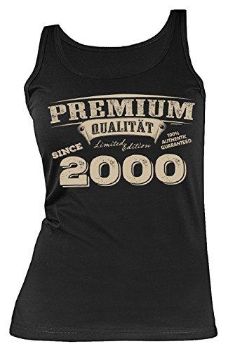 Mega-Shirt zum 18. Geburtstag Geschenk zum 18 Geburtstag Top für 18-jährige Mädchen Tank Top Damen Premium Qualität since 2000 Tops Tank Top