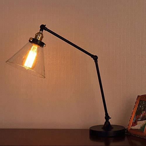 ETH Amerikanischen Retro Industriellen Wind Lange Arm Lampe Taste Schalter Kreative Lange Mechanische Arm Metall Tischlampe Glastisch Lampe Tischlampe Roman (Farbe : Clear) -