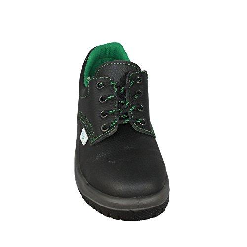 Eco-almar almar s3 chaussures de travail chaussures chaussures berufsschuhe businessschuhe plat noir Noir - Noir