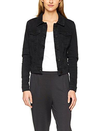 Noisy may Damen Jeansjacke Nmdebra L/S Black Wash Denim Jacket Noos, Schwarz (Black Black), 36 (Herstellergröße: S)