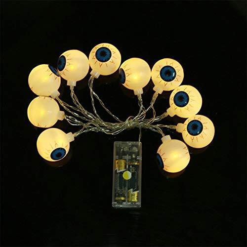 Wondder LED Halloween Lichter, Geisteraugen String Batteriebetriebene Lichter für Bar Ferienhaus Halloween Thema Parteien Dekoration Lieferungen (Warmweiß, 1.2M (Halloween Dekoration Themen)