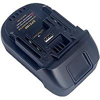 Sue Supply BPS18M - Adaptador de batería con puerto de carga USB para conversión a Makita 18 V de litio inalámbrico herramienta de alimentación USB con función de banco de energía convertido, color negro