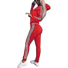 Cindeyar Survêtement Femmes Casual Sweats à Capuche Sportswear Manches  Longues Suit Zipper Vêtements de Fitness Femme db033764632