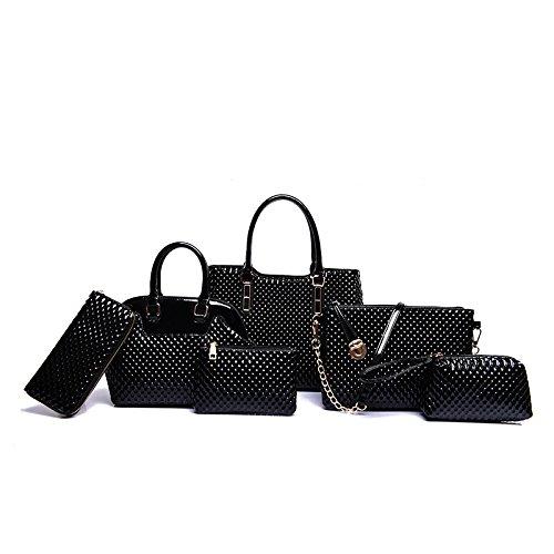Mefly Il lusso di fascia alta borsette Identificazione di sei pezzi di moda autunno All-Match Invia Zero Wallet kaki black