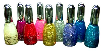 La Femme Nail Polish Set Of 9 Glitter Colours