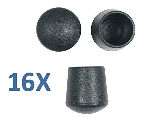 en für Möbelfüße, Packung mit 16Stück, Verfügbarkeit in 13Größen, schwarz und weiß (Schwarz-ess-stühle)