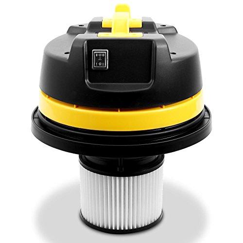 Klarstein IVC-50 • Industriesauger • Nasssauger • Trockensauger • 2000 W • IP X4-Schutz • Doppelradmotor • 50 Liter Edelstahl-Behälter • Schnellverschlüsse aus Metall • HEPA-Feinstofffilter • 70 cm Wasserablaufschlauch • umfangreiches Zubehör • silber-gelb - 7