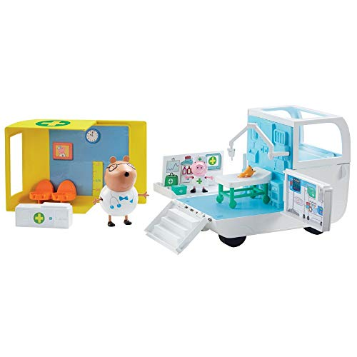 Giochi Preziosi- Peppa Pig Centre Médical avec 2 Figurines, PPC28
