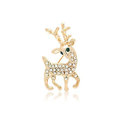 Meilleurs Costumes Pour Animaux - Fajewellery Renne Broche strass Plaque or Cute