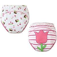 [Tulipán] bebé pantalones del entrenamiento del tocador del pañal de la ropa interior del pañal del paño 15.4-26.4Lbs
