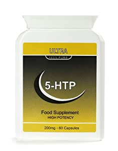 5-HTP 200mg 60 Quick Release Capsules- Pure Natural Serotonin - GMP Manufactured -Highest Quality
