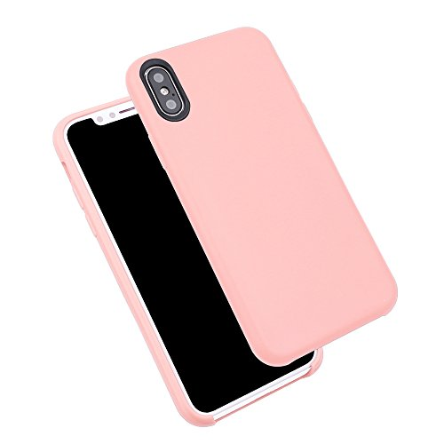 iProtect TPU Schutzhülle Apple iPhone X Softcase Silikon Rosa TPU Softcase Pink
