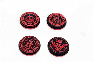 Thumbstick Grips for PS4 XBOX WII U Switch - Caps for all Controllers - Crown Red from CSBC / Playstation + XBOX Skins