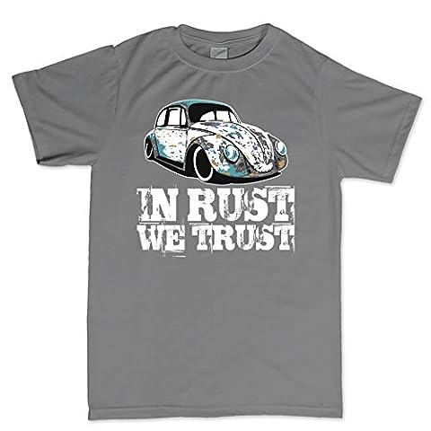 Flip rings CP Mens In Rust We Trust VW RAT Beetle Hot Rod T-shirt