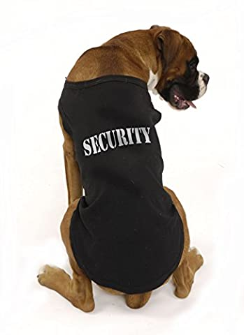 Security dog t-shirt, by Bertie's Brand, large range of sizes for most breeds