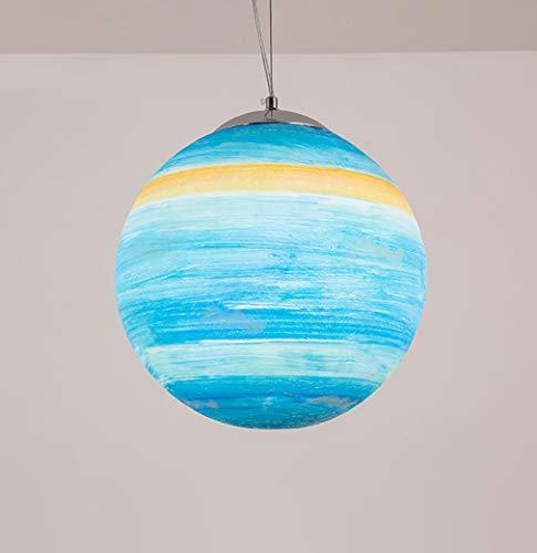 Universum Planetensystem Deckenleuchten - Modern Innen Kinderzimmer Leuchter Dachgeschoss Cafe Schlafzimmer Pendelleuchten(Birne Ist Nicht Enthalten) Uranus