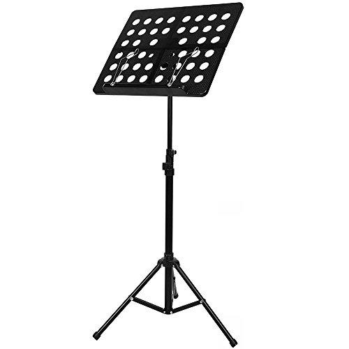 Irich regolabile leggio musicale con portando borsa e lamiera forata, spartiti leggio in metallo per violino chitarra e strumentale prestazioni
