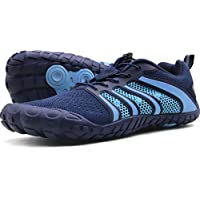 Oranginer Men's Barefoot Running Shoes Breathable Casual Walking Shoes for Men Blue Size 8