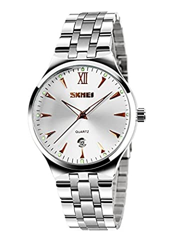 CIVO Mens Luxury Stainless Steel Band Wrist Watches Men's Business
