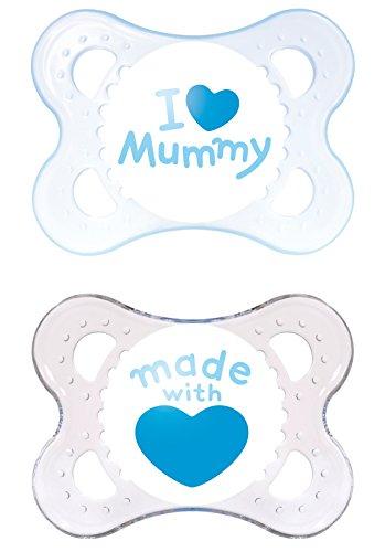 MAM 66734311 - Original Silikon I love mummy Boy 0-6, Doppelpack