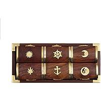 Store Indya, Set von 6 Holz Pill Boxes Dispensers mit Einem Tablett und Messing Inlay von nautischen Designs preisvergleich bei billige-tabletten.eu