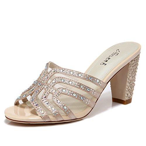 Fashion Lady haut talon sandales et pantoufles/poisson commun pantoufles/Tongs A
